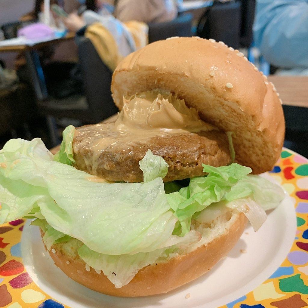 丹堤植物肉漢堡