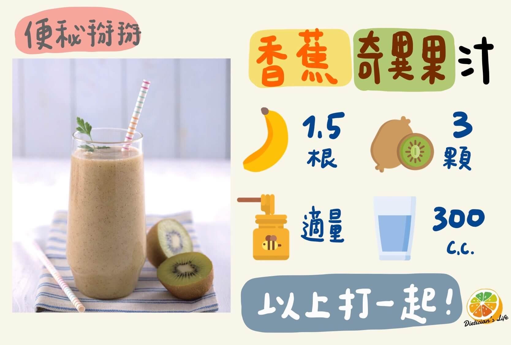 香蕉奇異果汁